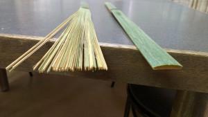 2センチ幅の竹が70本に割られている