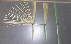 1本の竹が三谷さんの手によって変化していきます