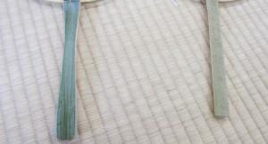 左がかすかにカーブを施している柄。何もしていない右側のものと比べると、良さが分かりやすい